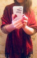 шикарный подарок -Изумительно красивая пашмина цвета красного вина
