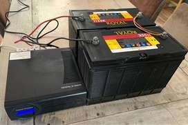 Crystal Xi 2000VA inverter plus 2 x 1200W batteries in case. Load Shed