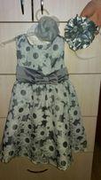 Нарядное платье на девочку 1-2 года (92 см)