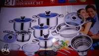 21 pcs stainless steel cookery set 0