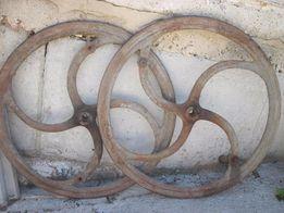 колесо 2 штуки, чугун, 77 см диагональ