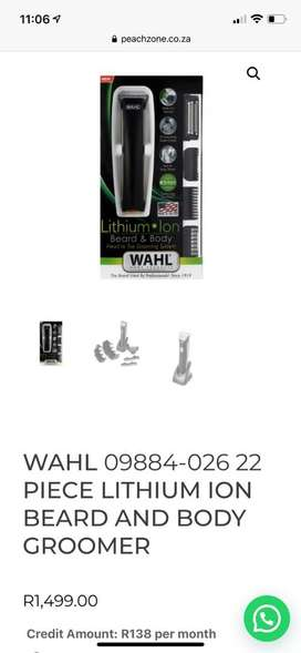 WAHL 22 PIECE LITHIUM ION BEARD AND BODY GROOMER