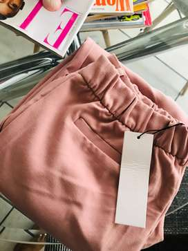 Brand new Pastel pink cigarette trousers from Refinery