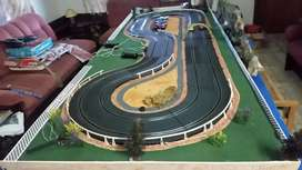 Scalextric layout on board good condition with scenery