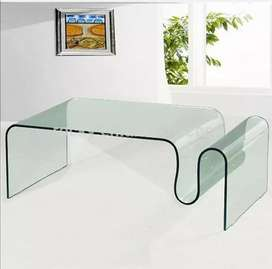 Curved coffee table