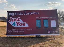 Mobile advertising Trailers