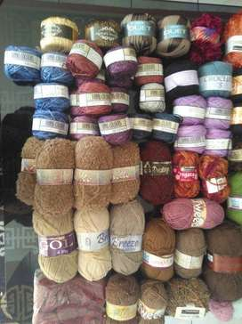 Wool, Yarn, Bamboo Yarn, Cotton Yarn and Synthetic and Wool Blends f