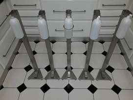Stainless steel Hands-free sanitizer stand