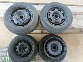 14 inches stellies / spare wheels with tyres (4)