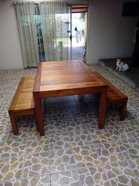 Outdoor wooden patio set ,