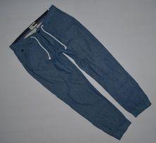 HOUSE M/L bawełna + len lekkie luźne spodnie