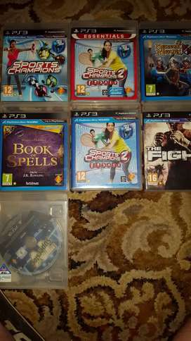 Ps3 move and 4 controllers and 7 games