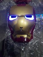 Маска Железный человек Marvel Iron Man с неоновой подсветкой глаз!