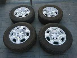 """Ford Ranger 17""""Rims with Bridgestone A /T Tyres For Sale"""