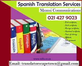 Spanish translation services Cape Town.