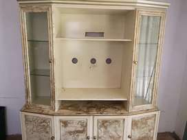Gold and cream Display TV stand