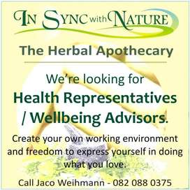 Sales Representative / Wellbeing advisor