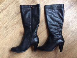 Кожаные зимние женские сапоги,размер 39