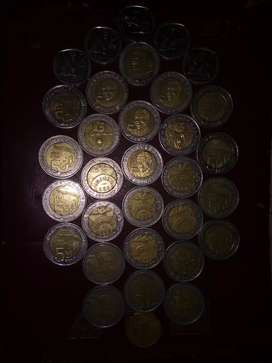 Selling 26 mandela coins +5 2rand coins +1 50cent