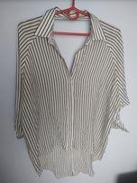 Koszula w paski v na plecach mgiełka