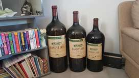 Wine bottles for display