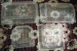 Пластиковая ёмкость для тортов и пирожных. Б/У.