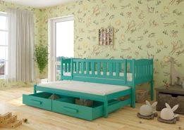 Łóżko dziecięce 2-osobowe HANIA . Wysyłka w 7 dni! 100% DREWNO