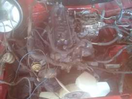 Toyota 2y engine and gearbox for sale