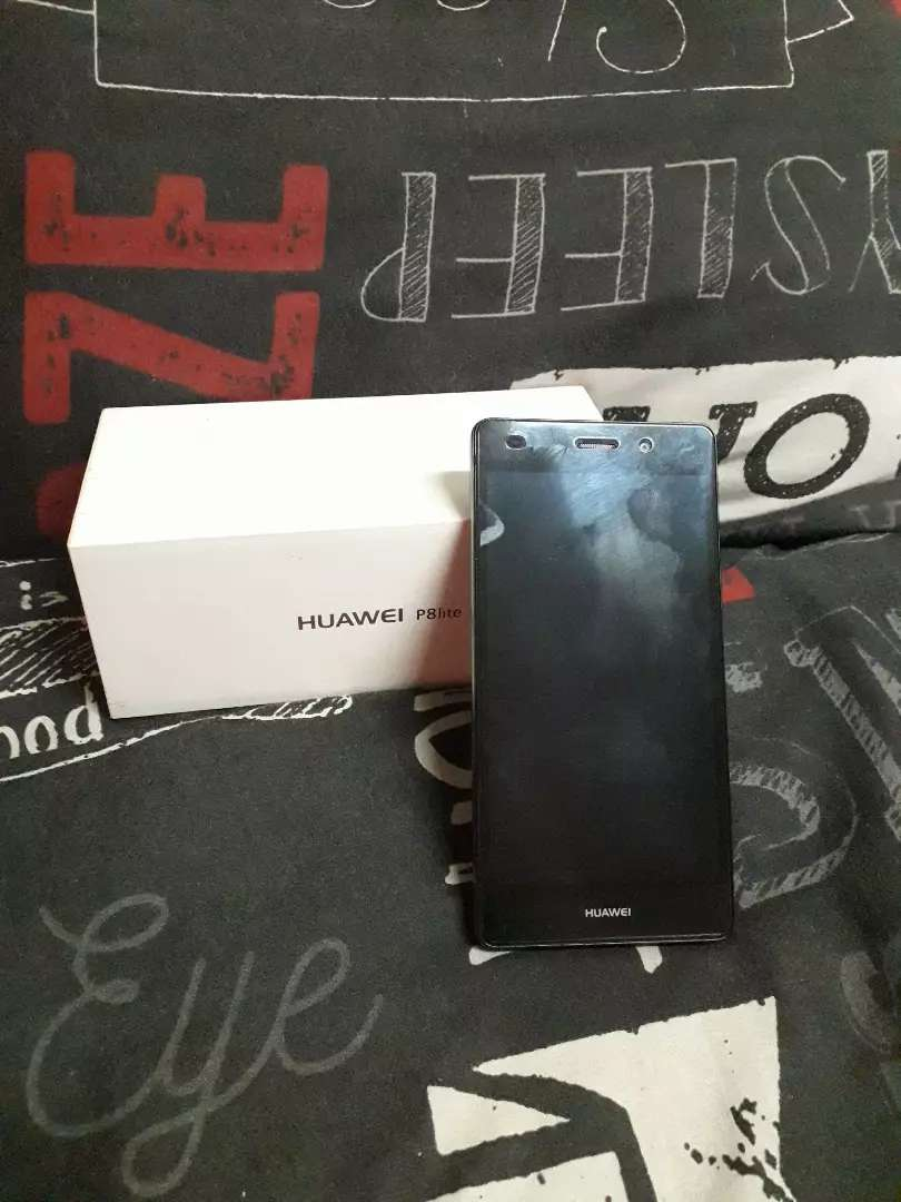 Huawei P8 Lite 16GB with a screen protector and charger. 0