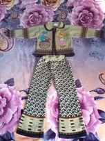 Костюм (кофта +штаны) тёплый на девочку натуральная шерсть
