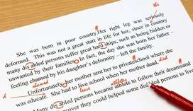 Language editing and proofreading