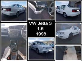 VW Jetta 3, 1.6. 1998 stripping for spares.