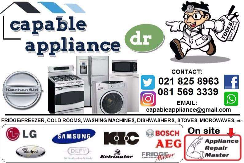 Refrigeration and Appliance repairs done on-site 0