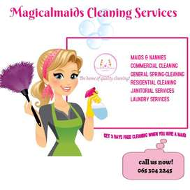 MAIDS & NANNIES, COMMERCIAL & RESIDENTIAL CLEANING SERVICES