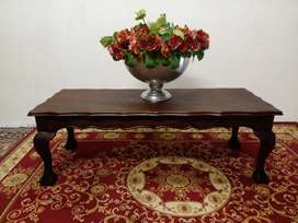 Imbuia ball and claw coffee table