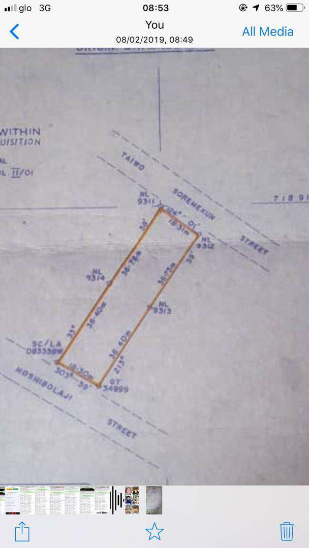 Land Available For Sale 1,338.897sqm at Canal Estate, Okota Lagos 0
