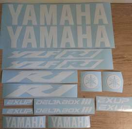 Yamaha R1 decals sticker sets for all years and models of bikes