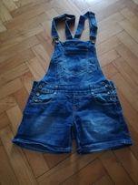 Spodenki jeans na szelkach młodzieżowe rozm 34