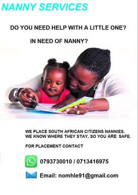 Domestic Workers or Nannies Available for placement