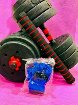 Environmental cement coated dumbell