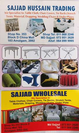Special price starch tent chairs and chairs table clothes