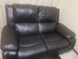 3 piece leather recliner set