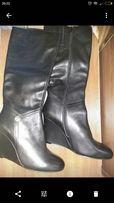 новые кожаные сапоги Braska 40 размер