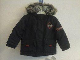 Zimowa kurtka dla chłopca na 74 cm. Ciepła kurtka z kapturem NOWA