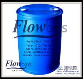 210L BLOW PACK PLASTIC DRUMS -WATER CHEMICAL OIL BIN 210LT BLUE TANK
