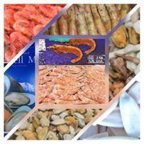 Продам морепродукты мидии,кальмар,лангустины,креветки,морской коктейль