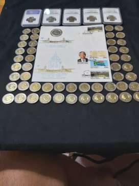 Mandela 90th birthday R5 coins