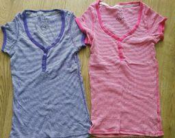 Zestaw 2 bluzki w paski z krótkim rękawem r 38