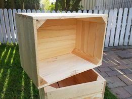 Skrzynka drewniana mała jedynka meble regały z palet półka regał