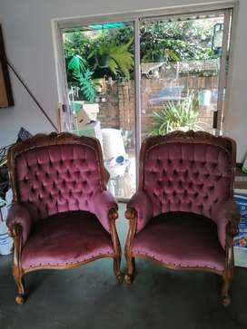 Victorian lounge chairs